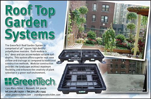 GreenTech Rooftop Gardens - 1/2 Page Full Color Ad